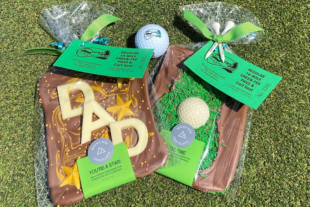 Father's Day Promo 18-holes with cart and Rocky Mountain Chocolate for $69.99 ($103 value)