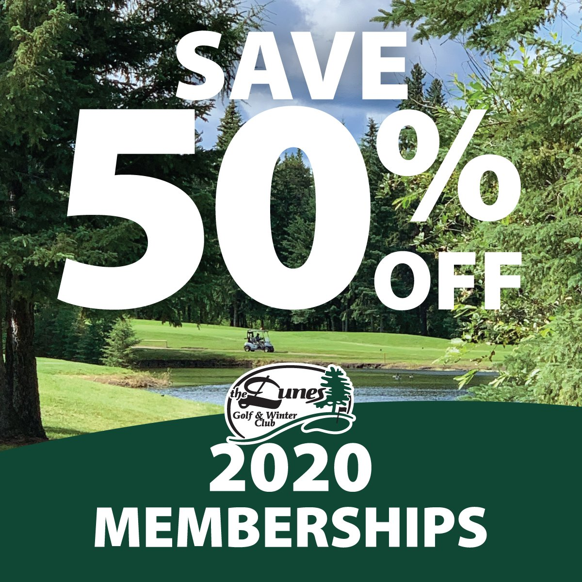 Save 50% off a 2020 Membership