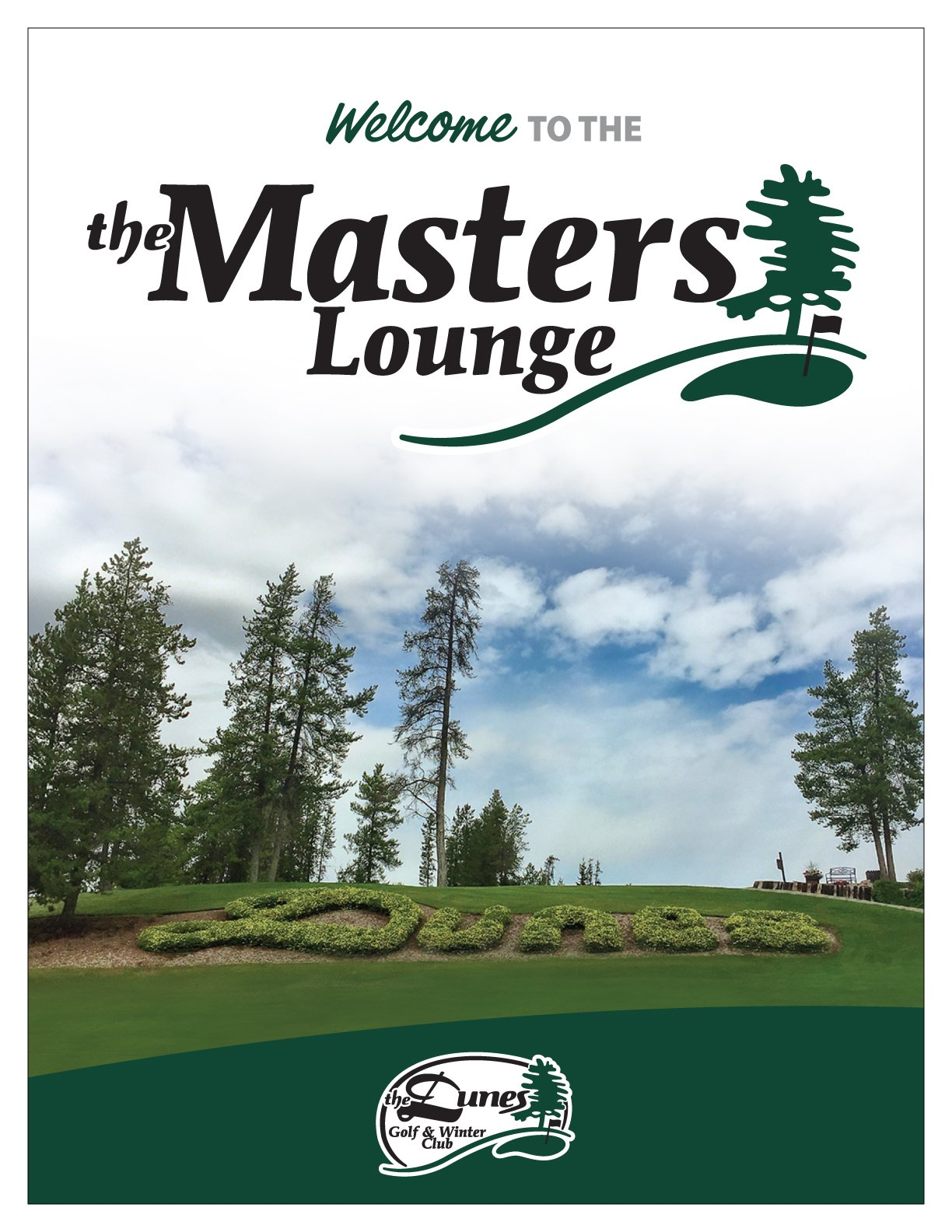 The Masters Lunge Full Menu