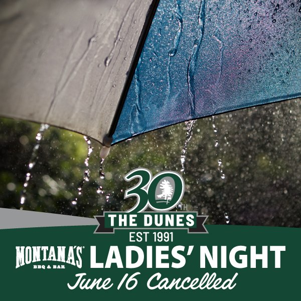 Montana's Ladies Night Cancelled for June 16